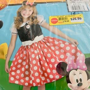 Girls Minnie Mouse costume7-8